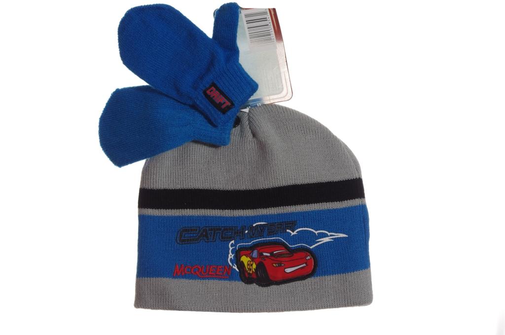 b01995c30e5 Disney Cars Boys Winter Hat Cap Mittens Warm Lightning Mcqueen Set ...