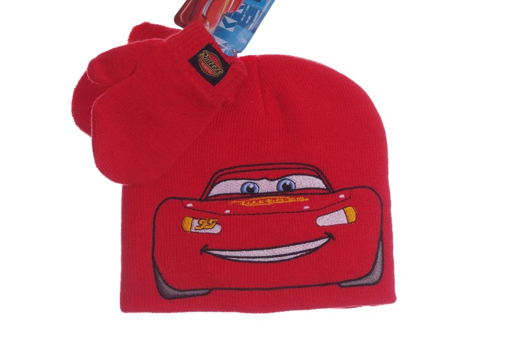6482029733a Disney Boys Red Cars Lightning McQueen Warm Winter Hat Cap Mittens ...